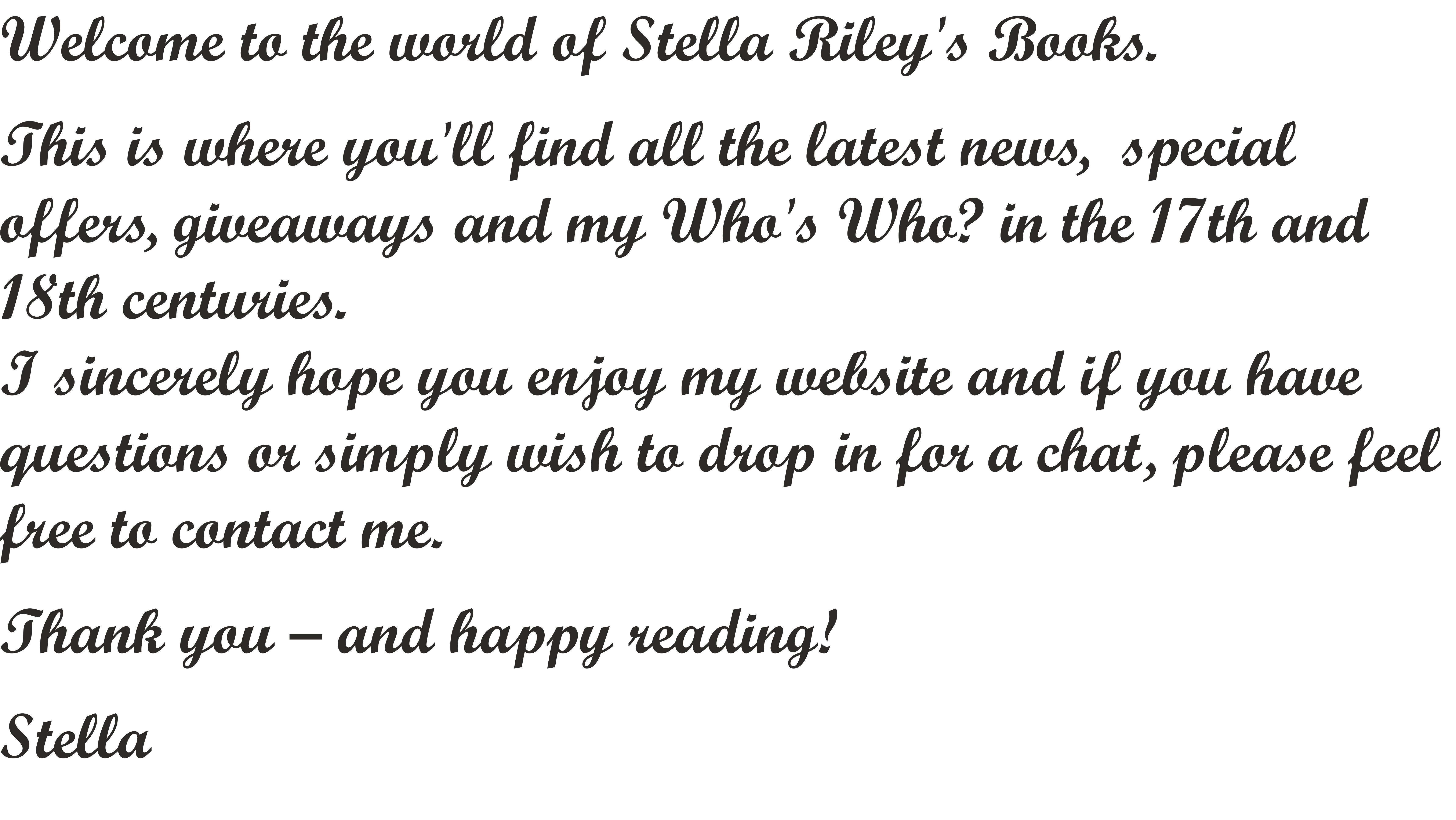 Stella Riley – Historical fiction